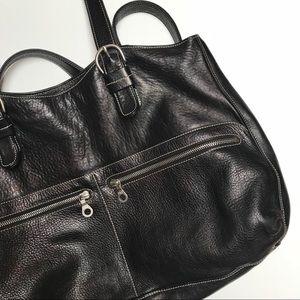 Nordstrom Christopher Kon Zip Leather Tote - Black